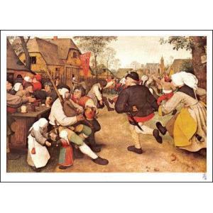 【ブリューゲル ポスター】農民の踊り(584×810mm)|poster