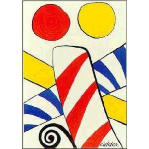 -アートポスター-Candy Cane(リトグラフ)519×740mm カルダー -おしゃれインテリアに- poster