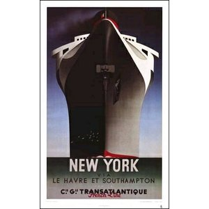 -カッサンドル アートポスター- ノルマンディー号 (534×863mm)  -おしゃれインテリアに- poster