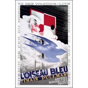 【リトグラフ】青い鳥(584×883mm) カッサンドル|poster