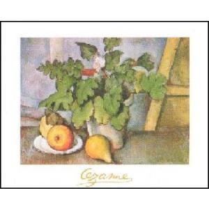 -アートポスター- テラコッタの花瓶と皿のフルーツ (50cm×70cm) ポール・セザンヌ -おしゃれインテリアに- poster