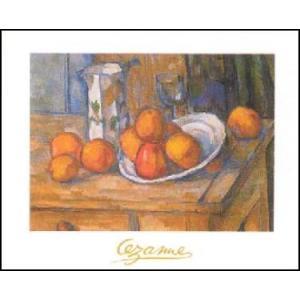-アートポスター- やかんとグラスと皿のフルーツ (60cm×80cm) ポール・セザンヌ -おしゃれインテリアに- poster