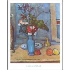 -アートポスター- 青い花瓶 (50cm×70cm) ポール・セザンヌ -おしゃれインテリアに- poster