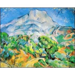 -アートポスター- サント=ヴィクトワール山 (60cm×80cm) ポール・セザンヌ -おしゃれインテリアに- poster