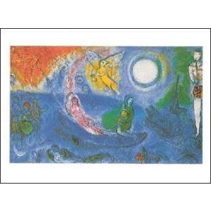 -シャガール アートポスター- コンサート (60cm×80cm) -おしゃれインテリアに-|poster