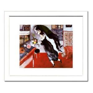 -シャガール額付ポスター-誕生日 (320×390×15mm) -おしゃれインテリアに- poster