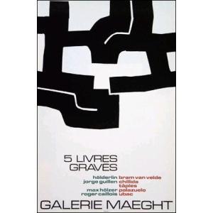 【チリダ】5 livres graves(420×640mm) リトグラフ|poster
