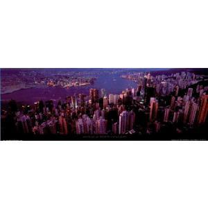 -フォトポスター- 香港 33cm×95cm 街 -おしゃれインテリアに-|poster