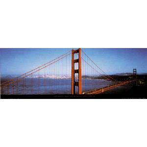 -フォトポスター- サンフランシスコ ゴールデンゲート橋 33cm×95cm 街 -おしゃれインテリアに-|poster