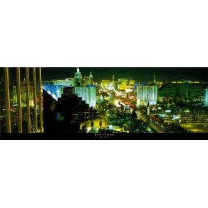 -フォトポスター- ラスベガス 33cm×95cm 街 -おしゃれインテリアに-|poster