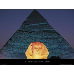 -フォトポスター- エジプト ギザ 50cm×70cm 街 -おしゃれインテリアに-|poster