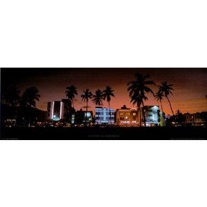 【フォトポスター】 マイアミ サウスビーチ 33cm×95cm 街|poster
