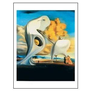 【アートポスター】 ダリ ミレーの建築学的晩鐘 60cm×80cm|poster