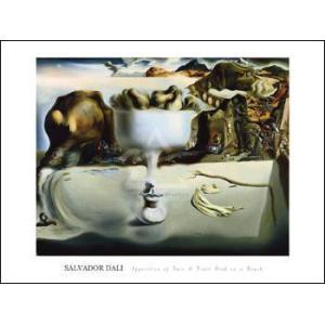 【アートポスター】顔の幻影と皿のフルーツ(610×815mm) ダリ|poster