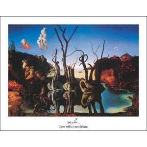 【アートポスター】水面に象を映す白鳥(281×358mm) ダリ|poster