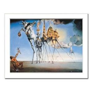 -サルバドール・ダリ額付ポスター-セント・アンソニーの誘惑 (320×390×15mm) -おしゃれインテリアに- poster