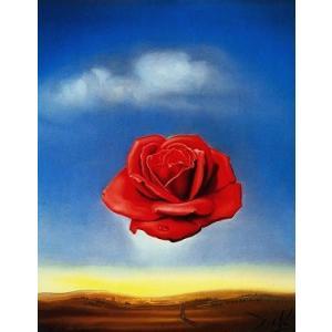 【アートポスター】瞑想するバラ(281×358mm) ダリ|poster