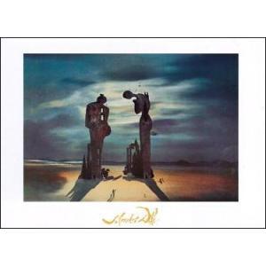 【アートポスター】 ミレー作「晩鐘」の考古学的追憶 (50cm×70cm) -ダリ-|poster