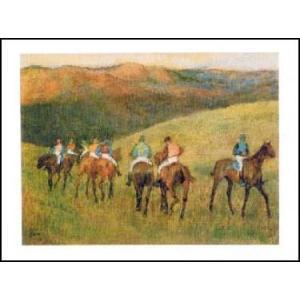 【アートポスター】 風景画の競走馬 (60cm×80cm) エドガー・ドガ|poster