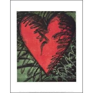 【アートポスター】Rancho Woodcut Heart(281×358mm)|poster