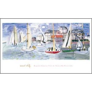 【アートポスター】 トゥルーヴィルの港の船 (610x1016mm) デュフィ|poster
