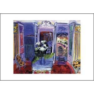 【デュフィ アートポスター】窓のある部屋(50cm×70cm)|poster
