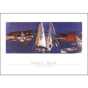 【アートポスター】帆を乾かすヨット(50cm×70cm) デュフィ|poster