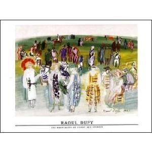 【アートポスター】ポール・ポワレのモデル,1941年(60cm×80cm) デュフィ|poster
