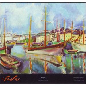 【デュフィ アートポスター】ル・アーヴル港1906年(613×656mm)|poster