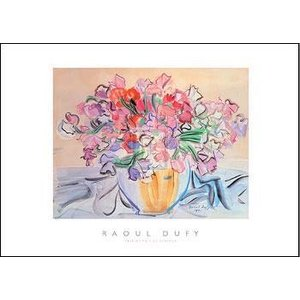 【アートポスター】スイートピーの花瓶(50cm×70cm) デュフィ|poster