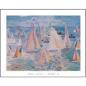 【アートポスター】ヨット(560×710mm) デュフィ|poster