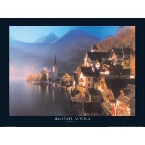 -フォトポスター- オーストリア ハルシュタット 60cm×80cm 街 -おしゃれインテリアに-|poster