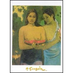 【アートポスター】 赤い花と乳房 (50cm×70cm) ポール・ゴーギャン|poster