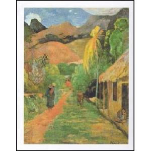 【アートポスター】 Chemin a` Papeete (50cm×70cm) ポール・ゴーギャン|poster