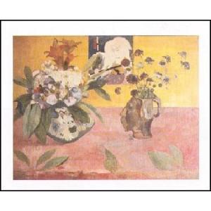 【アートポスター】 日本の版画のある静物 (60cm×80cm) ポール・ゴーギャン|poster
