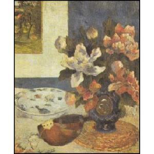 【アートポスター】 マンドリンと静物 (60cm×80cm) ポール・ゴーギャン|poster