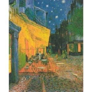 <<アートポスター(余白無し)>>  夜のカフェテラス (60cm×80cm) フィンセント・ファン・ゴッホ|poster