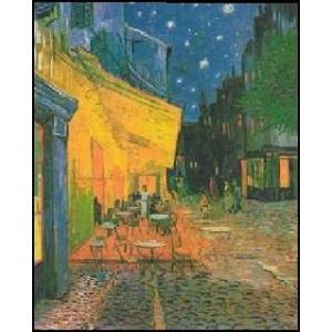 <<アートポスター(余白無し)>>  夜のカフェテラス (70cm×100cm) フィンセント・ファン・ゴッホ|poster