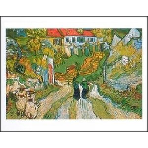 【アートポスター】  オーヴェールの階段 (40cm×50cm) フィンセント・ファン・ゴッホ|poster