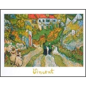【アートポスター】  オーヴェールの階段 50cm×70cm フィンセント・ファン・ゴッホ|poster