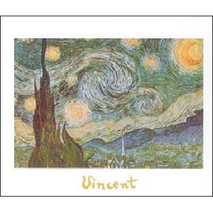 -アートポスター- ゴッホ  星月夜 (24cm×30cm)  -おしゃれインテリアに-|poster