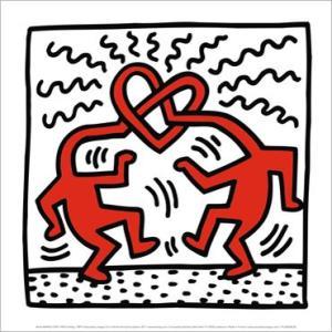 -キース・ヘリング アートポスター-無題 1989年(300x300mm) -おしゃれインテリアに-|poster