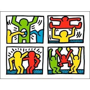 -キース・へリング アートポスター-Pop shop quad I, 1987(300x400mm) -おしゃれインテリアに-|poster