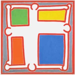 -アートポスター- キース・ヘリング 無題 #3,1988年(700x700mm) -おしゃれインテリアに-|poster