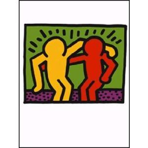 -アートポスター- キース・へリング 相棒1990年(300x400mm) -おしゃれインテリアに-|poster