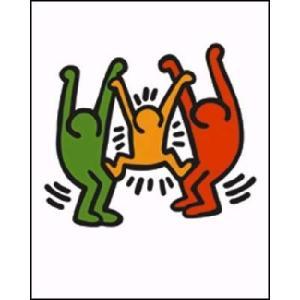 -キース・ヘリング アートポスター-無題 1985年(600x800mm) -おしゃれインテリアに-|poster