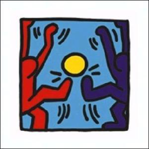 -アートポスター-無題1988年(300x300mm) キース・ヘリング -おしゃれインテリアに-|poster