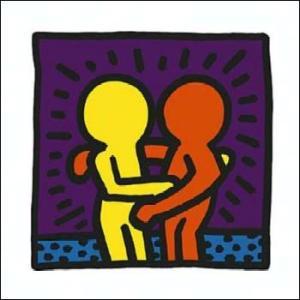 -アートポスター-無題1987年(300x300mm) キース・ヘリング -おしゃれインテリアに-|poster