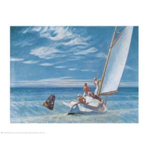 -アートポスター- Ground Swell  610×762mm ホッパー -おしゃれインテリアに-|poster