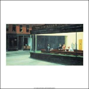 -アートポスター-ナイト・ホークス(30cm×30cm) エドワード・ホッパー -おしゃれインテリアに-|poster